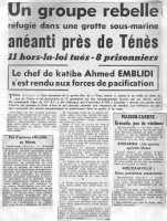 19 Septembre 1959 La grotte du Veau Marin au Cap TENES