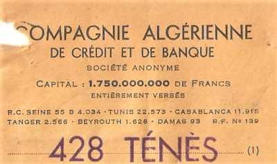 COMPAGNIE ALGERIENNE DE CREDIT ET DE BANQUE