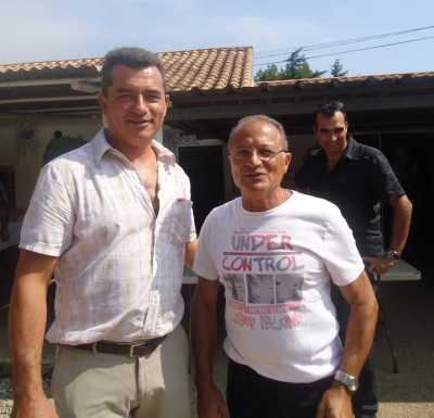 Gilles D'ETTORE Maire d'Agde avec Robert CRABA Responsable des Pieds Noirs d'Agde (Bone)