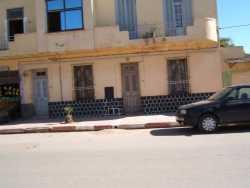 Route de Cherchell maison DELBANO construite en 35/36  et � gauche l'�picerie de DELBANO Germaine (Mme GARKOF)