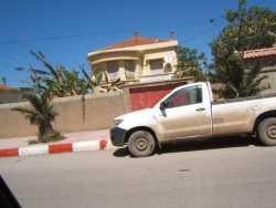 Route de Cherchell Village de Carton en face de la maison de  la famille BELKHARROUBI