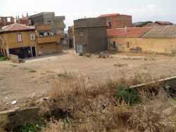 """C'�tait notre """"bal""""  au bord de l'oued  avec les maisons MARTINEZ VISCIANO, SABATIER en face et  le derriere des maisons VERGO ROMEO et au bout l'emplacement  de la maison LOFFREDO"""