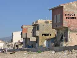 La Marine - 2010 ---- vue de la Plge ---- Maisons CIXOUS/TORRES Maison WERY etc