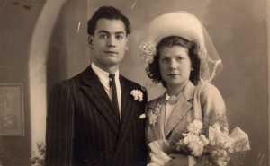 mariage 1er avril 1947 Christian LANDRIC & Claudine CATALAN