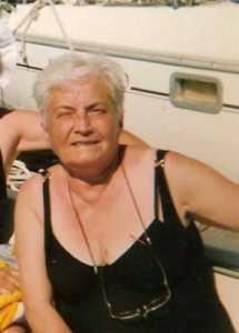 Louisette ANDRE au Cap d'Agde en 2000