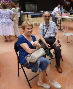 Paulette VELLA (famille QUILLES) et Guy PONS (veuf d'Odette ALBENTOSA)