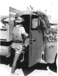 Jean-Paul BANON partant travailler aux champs