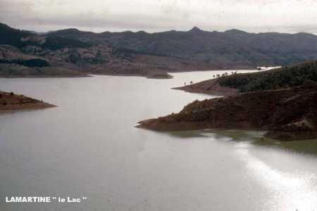 LAMARTINE / OUED-FODDA Le plan d'eau du barrage