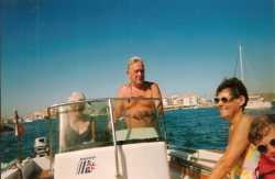 2000 - LE CAP d'AGDE ---- Louisette ANDRE Jean ANDRE Christiane CAMILLERI