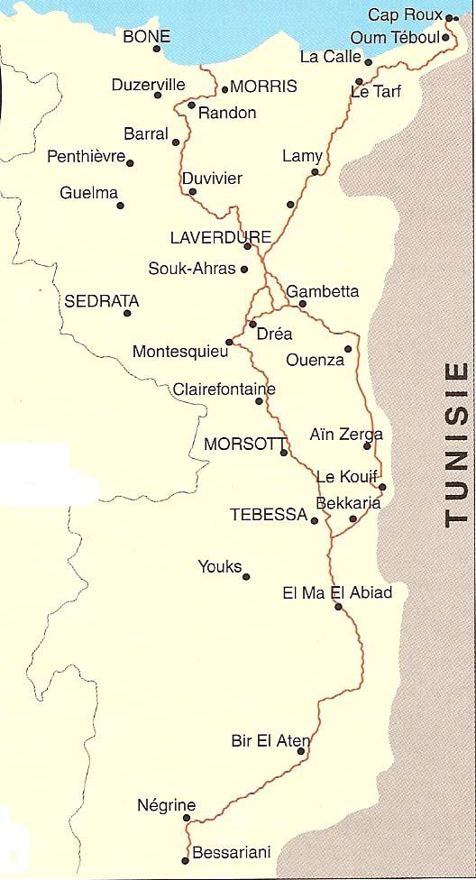 carte de la ligne Morice