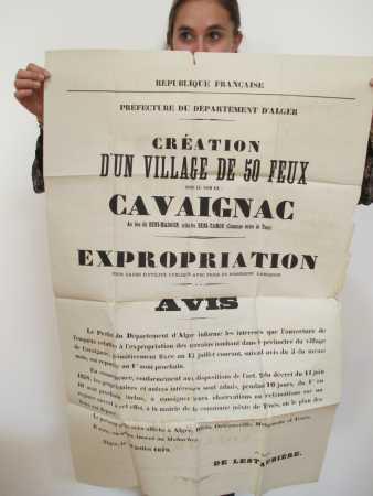 Avis de fondation de CAVAIGNAC en 1879