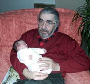 Georges CERVERA et sa petite fille Ambre