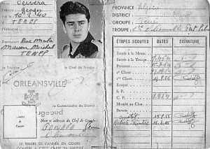 Georges CERVERA la carte de Scout