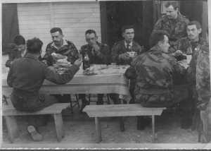 CHASSERIAU 1960 ---- Commando KIMONO 36 ---- S/Lt Yannick LALLEMAND Capitaine PRIGIERE Lieutenant TORDO S/Lt Jacques BOISARD X X X