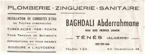 PLOMBERIE BAGHDALI