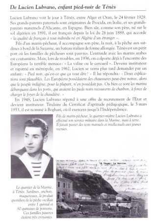 Lucien LUBRANO Enfant Pied-Noir de TENES