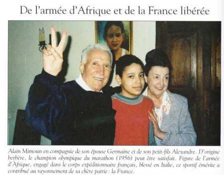 Alain MIMOUN et sa famille