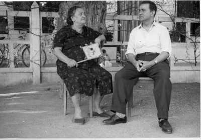 1954 - Oued Fodda Carmela De GAETANO et son fils Vincent DE GAETANO