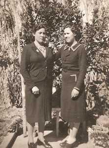 2 filles Banos.  Henriette ALBENTOSA et sa soeur Louise MORLA