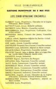 Elections municipales du 05 mai 1935