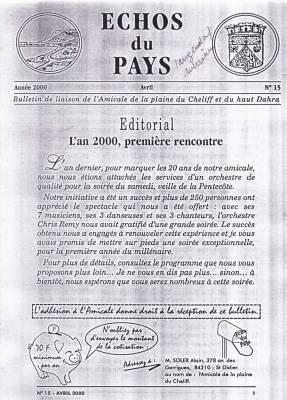 Highlight for Album: L'ECHO du PAYS  Avril 2000
