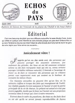 Highlight for Album: L'ECHO du PAYS  Avril 2001