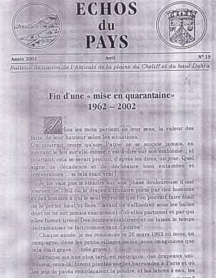 Highlight for Album: L'ECHO du PAYS  Avril 2002