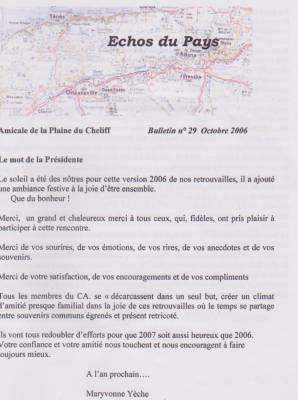 Highlight for Album: L'ECHO du PAYS  Octobre 2006