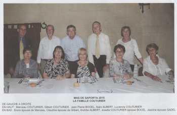 Photo des Retrouvailles 2015 La Famille COUTURIER