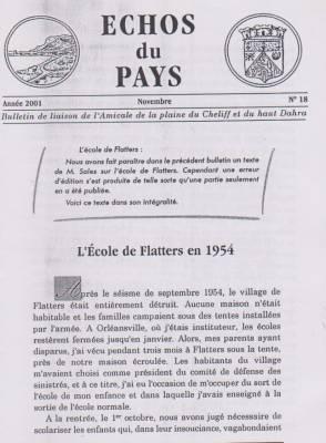 Highlight for Album: L'ECHO du PAYS  Novembre 2001