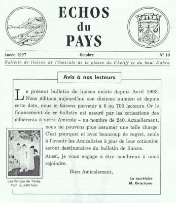 Highlight for Album: Echo du Pays  Octobre 1997