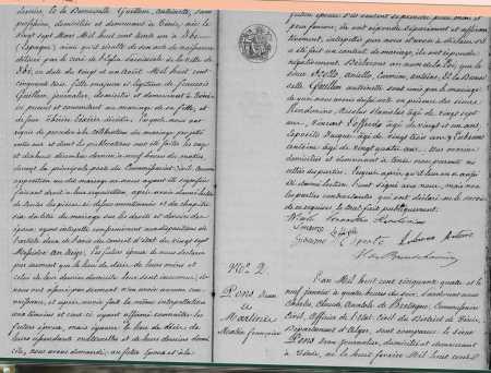 Mariage de Aniello SCOTTO  et d' Antoinette GUILLEM (suite)