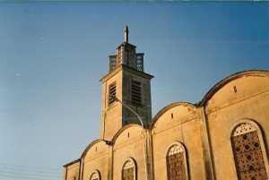 L'Eglise de TENES  en 1987 sans la Croix