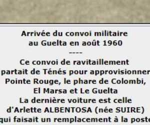 Aout 1960 Le convoi EL MARSA - TENES