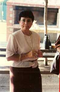 Marcienne ESPI ---- fille de Pierre & Marie CELDRAN soeur de Jean-Pierre ESPI Novembre 1995