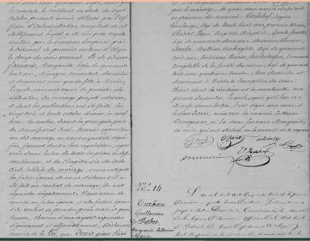 Mariage de Pierre LOUIS avec Catherine BOUCAGNANO (Suite)