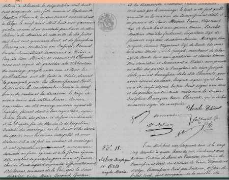 Mariage entre Victor MONIER et Ursule CLEMENTE (Suite)