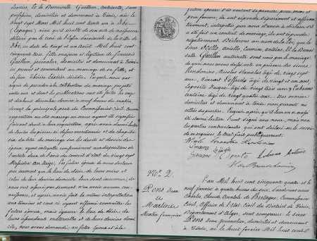 Mariage de Aniello SCOTTO et de Antoinette GUILLEM (suite)