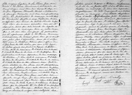 Mariage de Jules AUFSCHNEIDER avec Magdeleine LAURE (Suite)