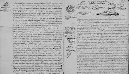 MONTENOTTE le 25 Mars 1850 ----  illisible