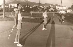 Lacurie et Feredj au Tennis