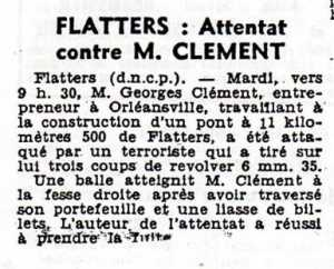 FLATTERS - Septembre 1957