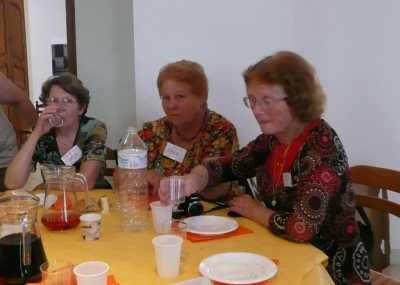 LA VIERE 2009 ---- les SALA d'Affreville: SALA Jacqueline SALA Aurore DELBANO Mauricette veuve HERNANDEZ Ernest
