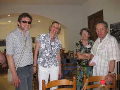 """Les """"Cousins"""":  Patrick SERMESANT Christiane SALA Jacqueline SALA Claude SALA"""