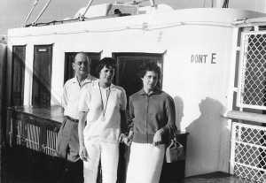 19 Juillet 1961 sur le Kairouan Le Voyage sans retour ---- Alexandre CAMILLERI Christiane CAMILLERI Gilberte CAMILLERI