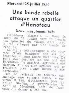HANOTEAU -25 Juillet 1956