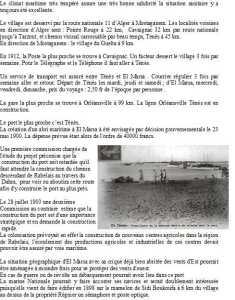 POINTE-ROUGE ... 22 kms CAVAIGNAC ... 32 kms TENES ... 45 kms LE GUELTA ... 9 kms ORLEANSVILLE ... 100 kms