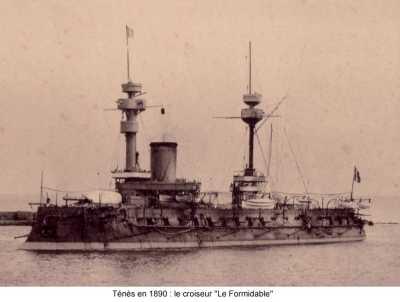 """TENES - 1890  Croiseur """"Le FORMIDABLE"""""""