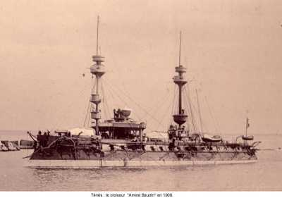 "TENES - 1900   Croiseur ""Amiral BAUDIN"""