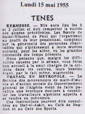 Kermesse Lundi 15 Mai 1955